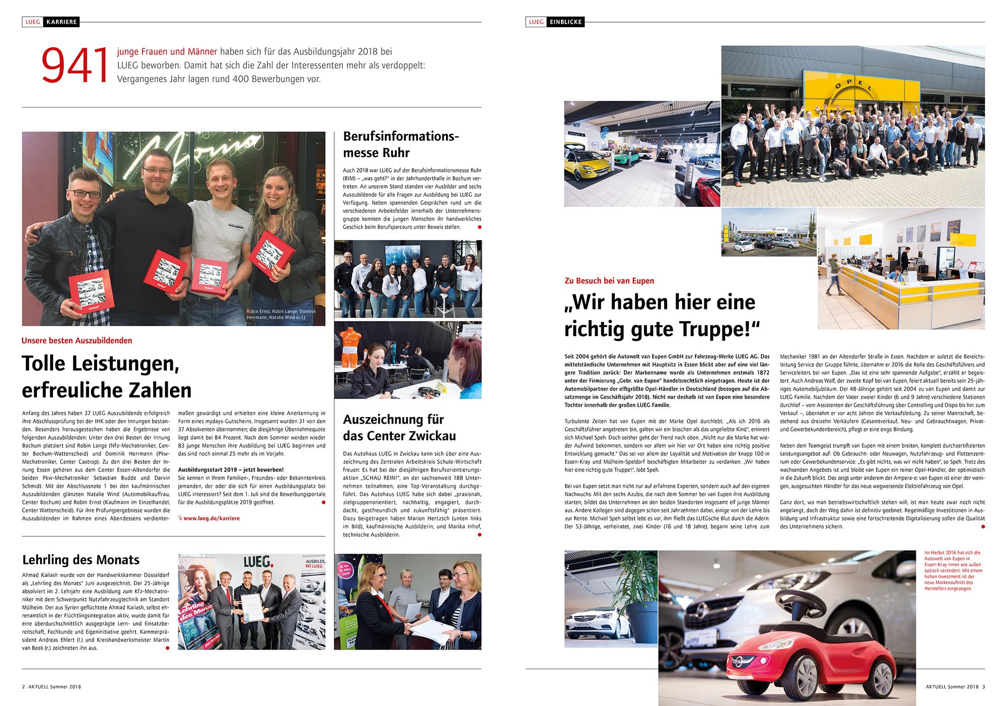 Ganz AKTUELL: Relaunch für die LUEG Mitarbeiterzeitung